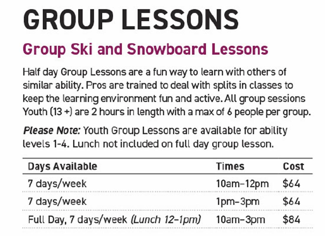 Mount Washington Alpine Resort - Youth Group Lessons