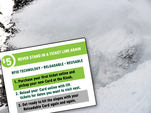 Alpine Day Tickets - Reloadable Reusable RFID