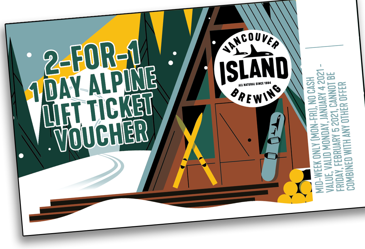 Vancouver Island Brewing 2 for 1 Ticket Mid Week
