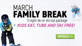 Kids eat, tube and ski FREE!